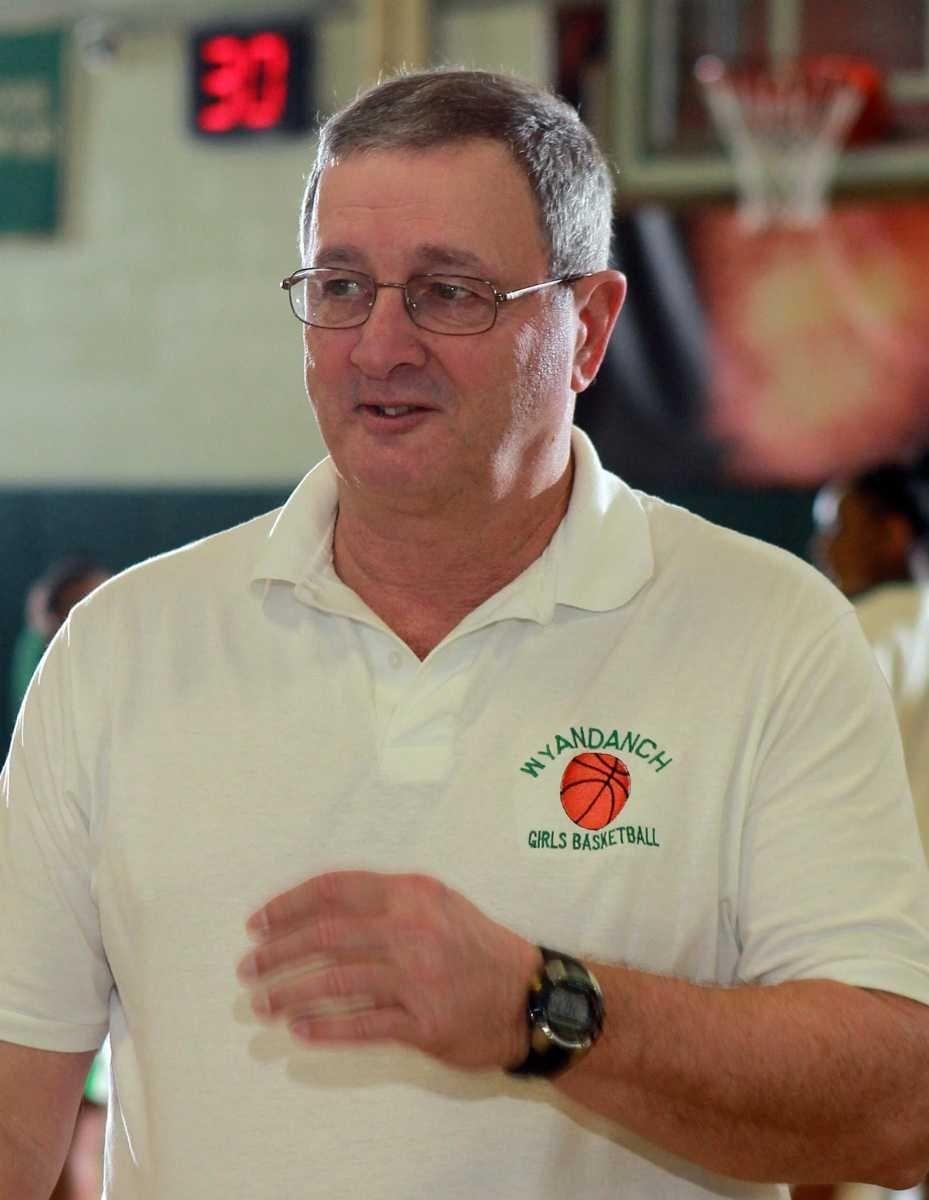Wyandanch girls varsity basketball head coach Warren Fuller.