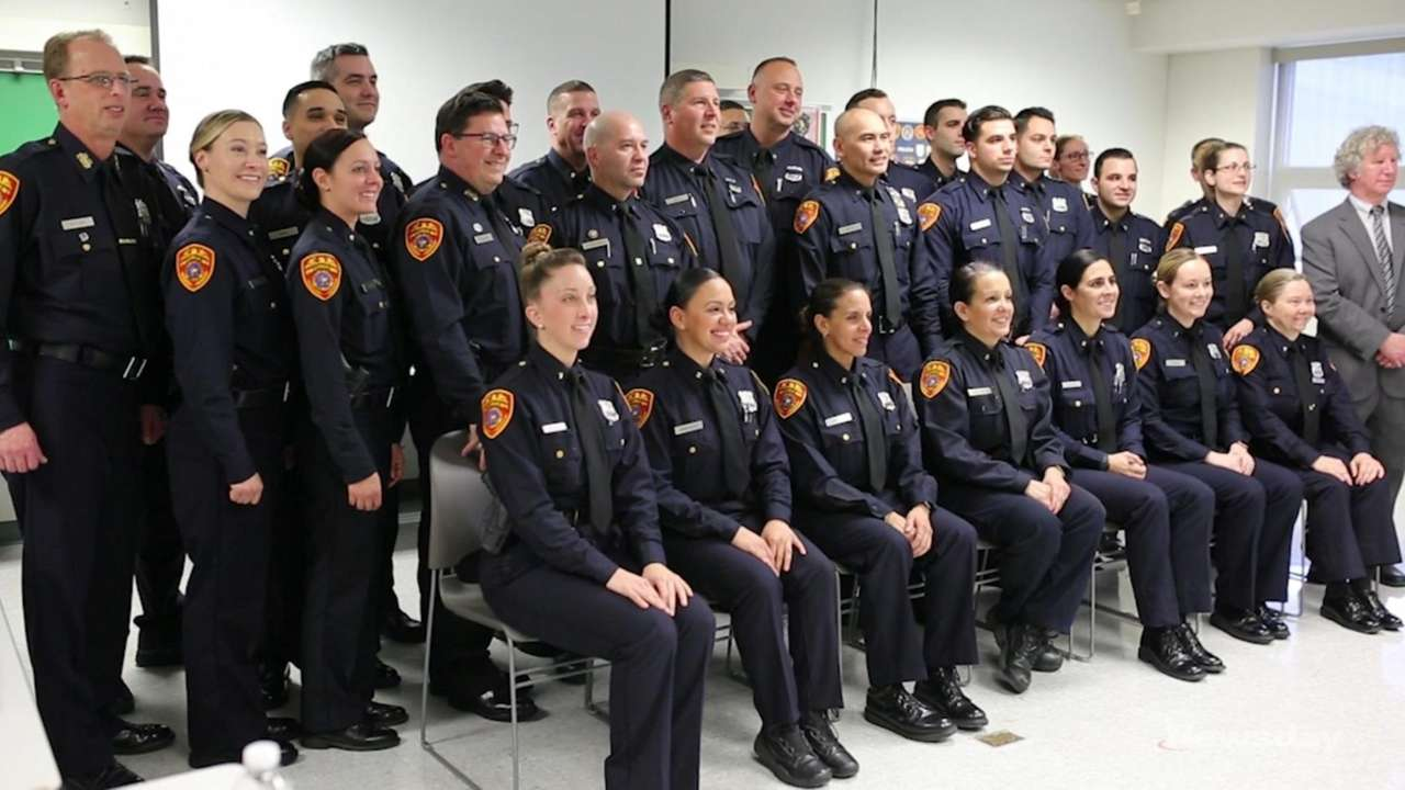 Thirty Suffolk County police officers graduated Friday from