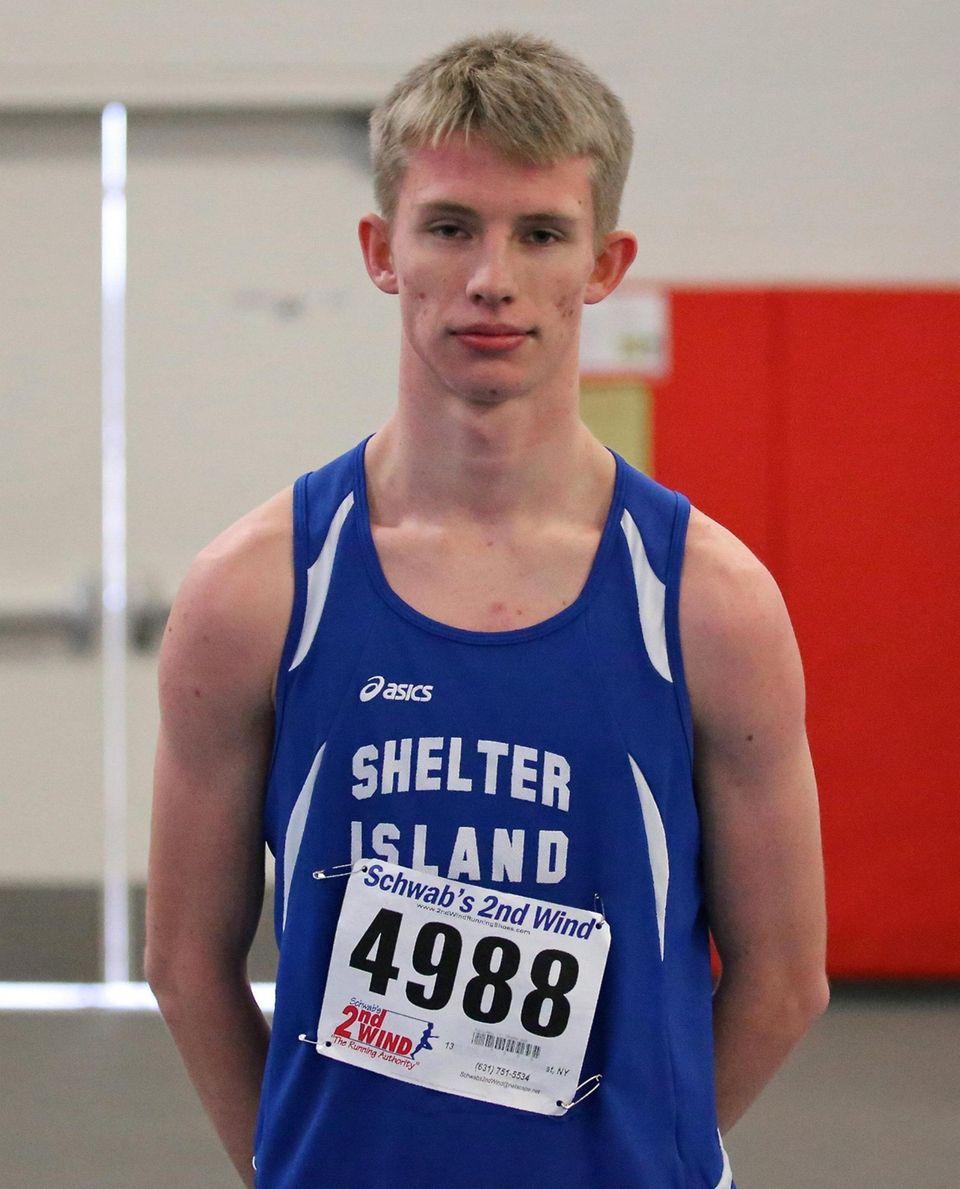Shelter Island's Cal Daniels, winner of the 1000m