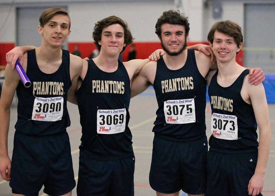 Bayport Blue Point 4x400m relay team, Connor Joseph,