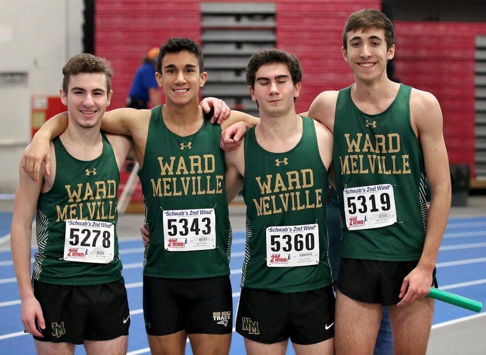 Ward Melville's 4x400m relay team, Caleb Wheeler, Dave