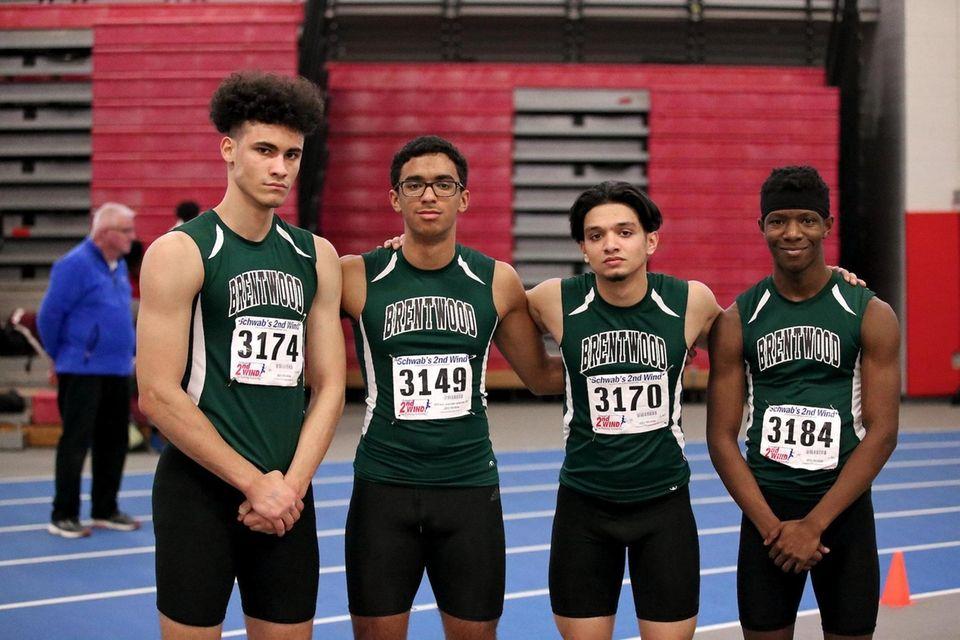 Brentwood's 4x200m relay team, Saad Quadri, David Wood,