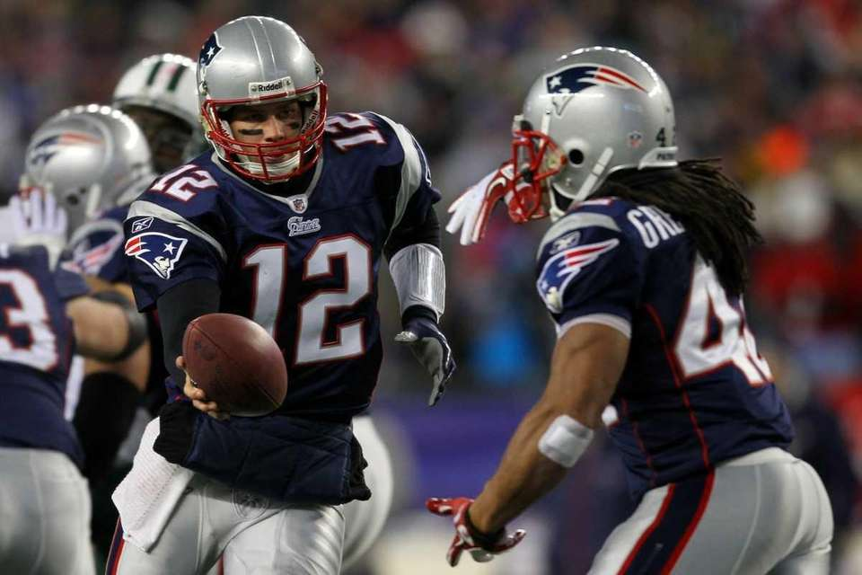 Tom Brady #12 of the New England