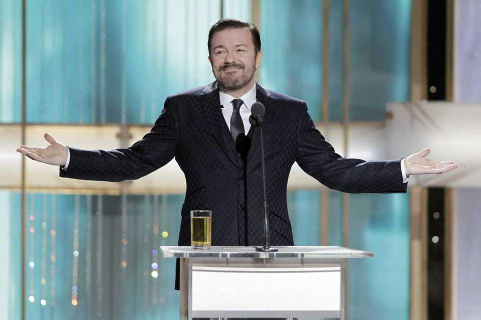 Host Ricky Gervais during the 68th Annual Golden