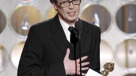Actor Steve Buscemi accepts the award for best