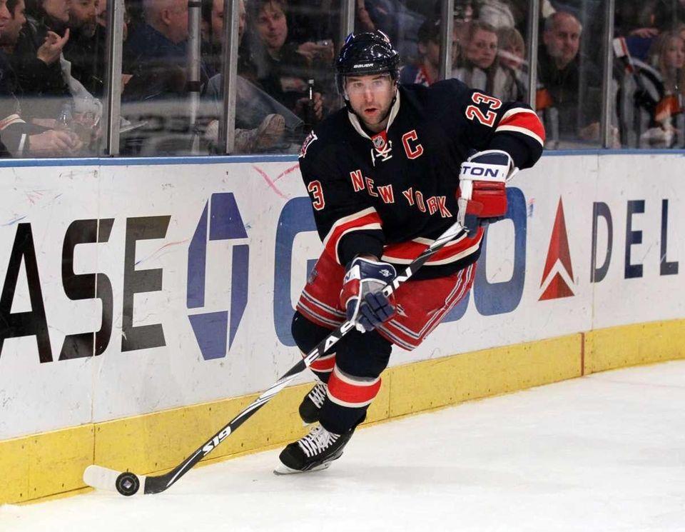 Chris Drury #23 of the New York Rangers