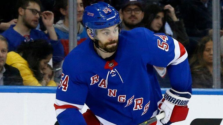 Adam McQuaid of the Rangers skates against the