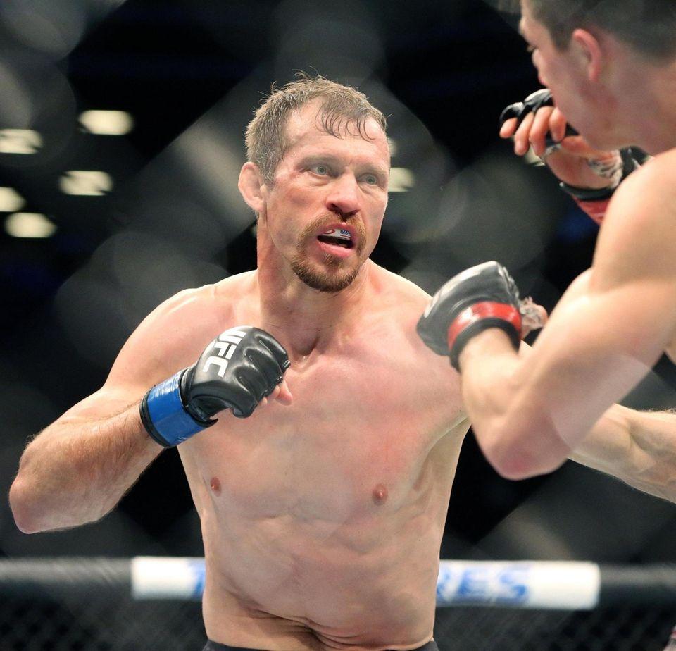 Donald Cerrone fights Alexander Hernandez during UFC Brooklyn