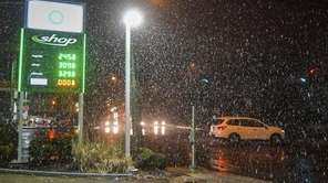 Saturday night's weather switches over to rain on