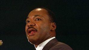 The Rev. Dr. Martin Luther King Jr. speaks
