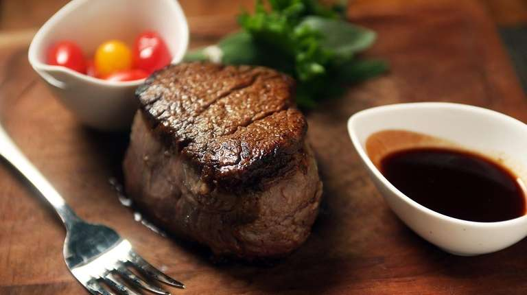 Filet mignon is served at Imperial Meat Company