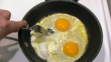 When making eggs, use the tines of a