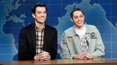 "Comedian John Mulaney, left, and ""Saturday Night Live"""