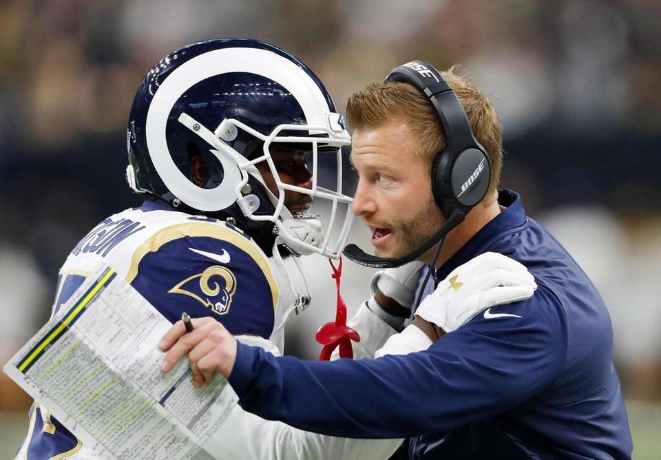 Los Angeles Rams head coach Sean McVay speaks