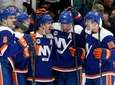 Cal Clutterbuck #15 of the Islanders celebrates his
