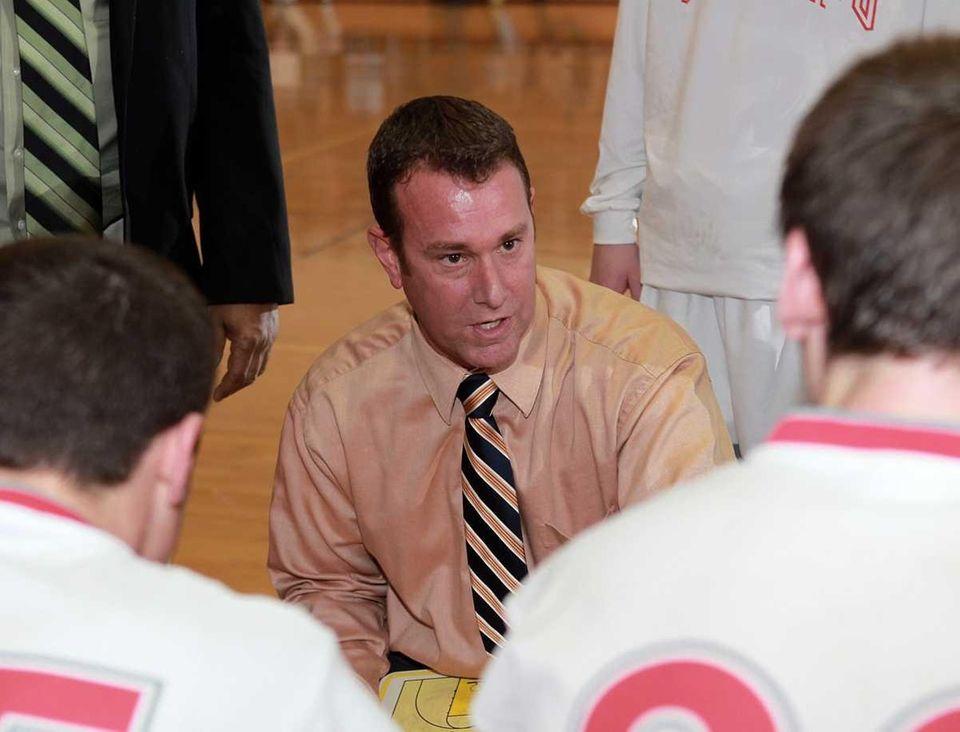 Southold boys varsity basketball head coach Jeff Ellis.