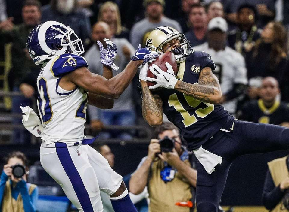 New Orleans Saints wide receiver Ted Ginn (R)