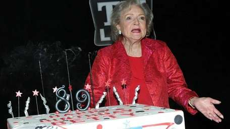 Actress Betty White attends her 89th birthday party