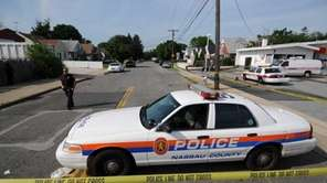 A file photo of a Nassau police car