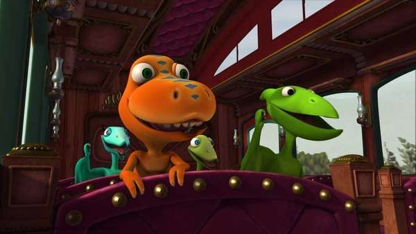 Next Stop for the Dinosaur Train is playing
