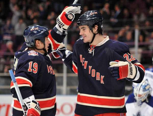 New York Rangers center Brian Boyle (22) is