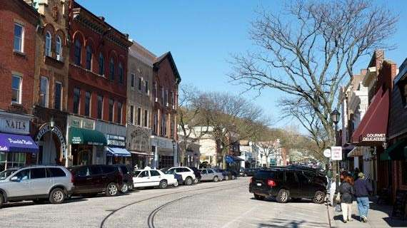 Downtown Northport where there is a mixture of