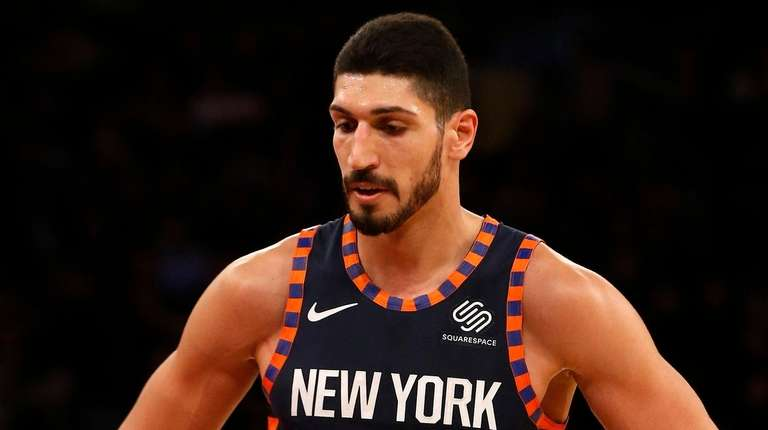 Enes Kanter of the Knicks in the second