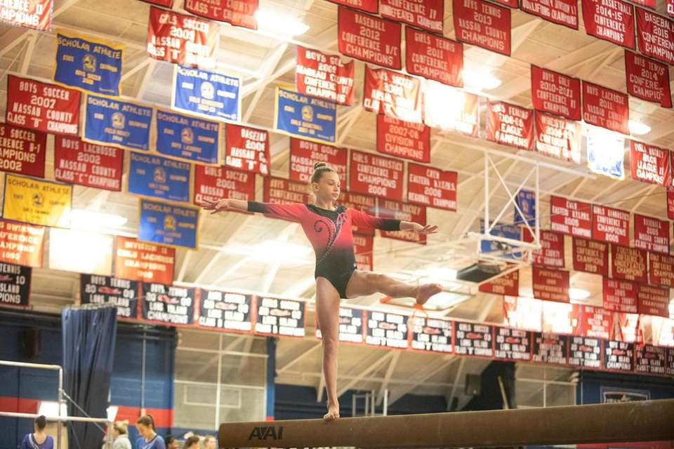 Allie Jacobs, of Syosset High School, compete during