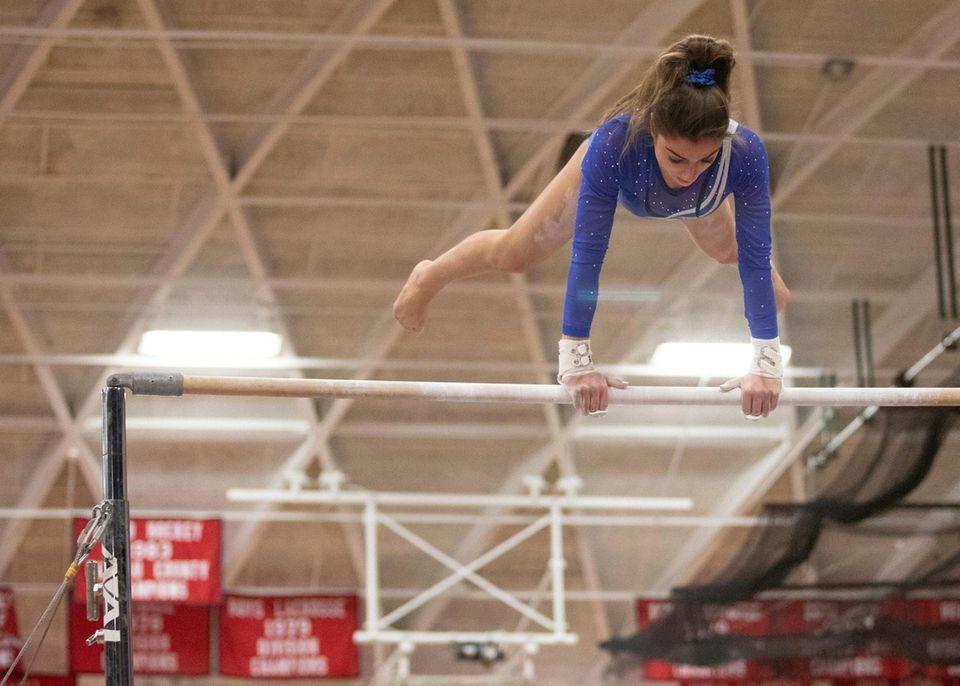 Stephanie Carta, of Port Washington High School, compete
