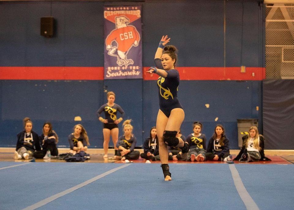 Heidi Baldinger, of Massapequa High School, competes during