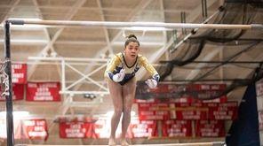 Julianna Feliz, of Bethpage High School, compete during