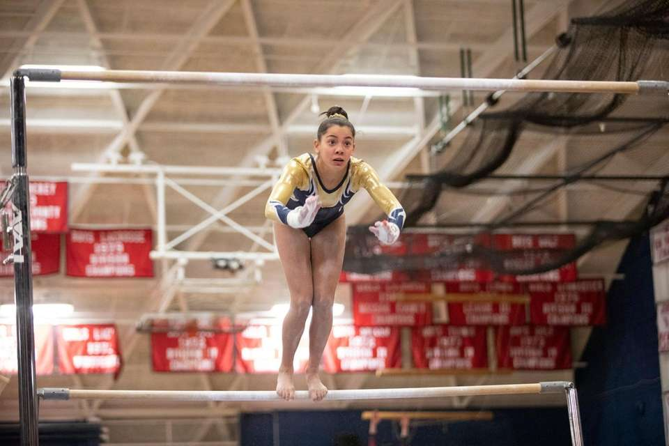 Julianna Feliz, of Bethpage High School, compete during