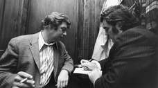 Pete Hamill, left, and Jimmy Breslin.