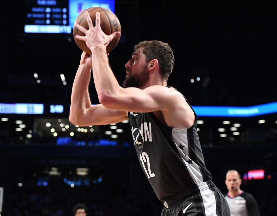 Brooklyn Nets guard Joe Harris shoots from the