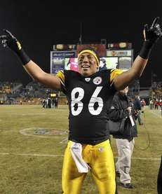 Steelers wideout Hines Ward vowed not to be