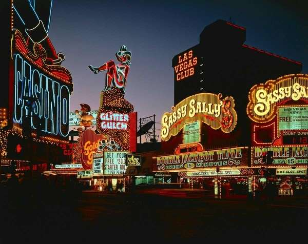 Photo of classic Vegas neon lights seen here
