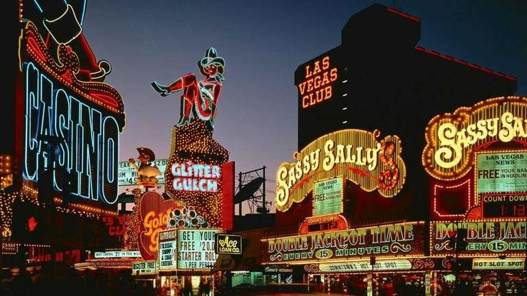 Photo of classic Vegas neon lights seen here