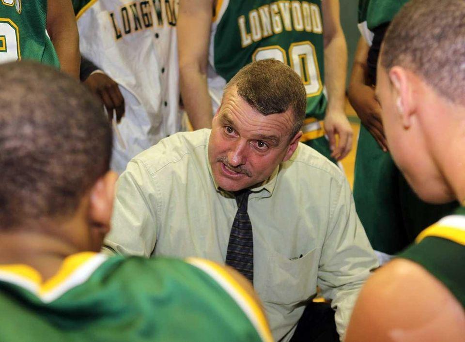 Longwood's boys basketball first year varsity head coach