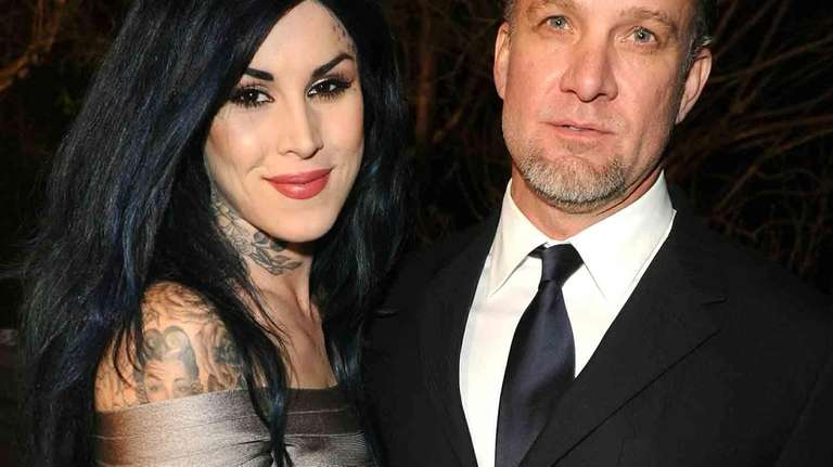 Kat Von D and Jesse James attend the