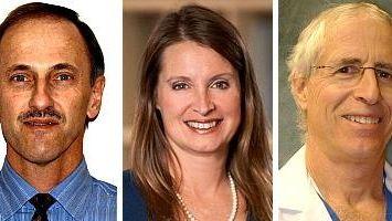 Kevin Koubek, Kate Schneider and Dr. Robert A.