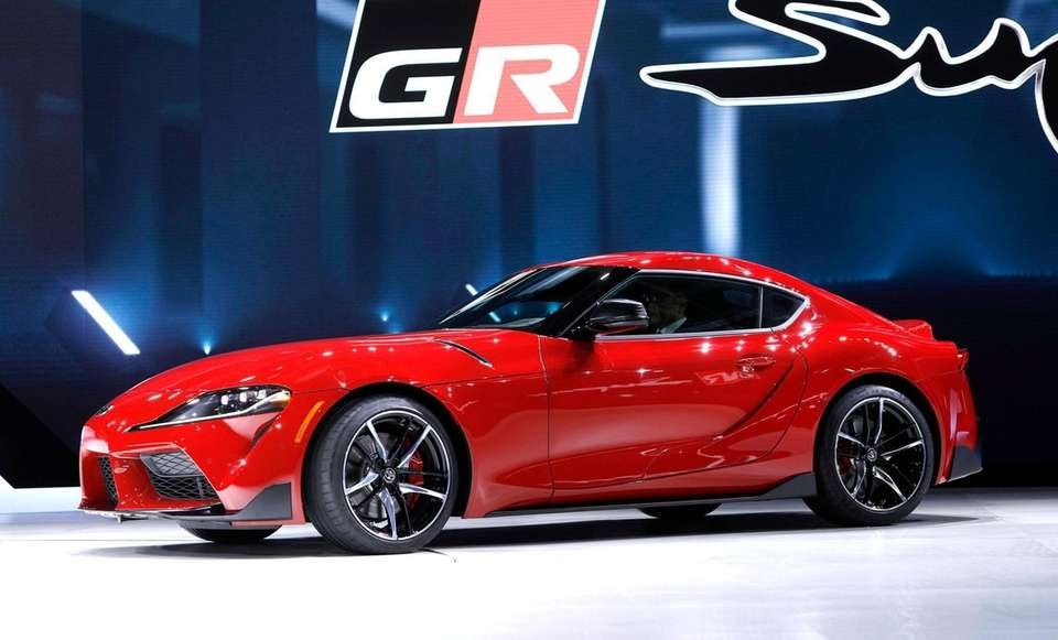 The 2020 Toyota Supra rear-wheel-drive sports coupe is
