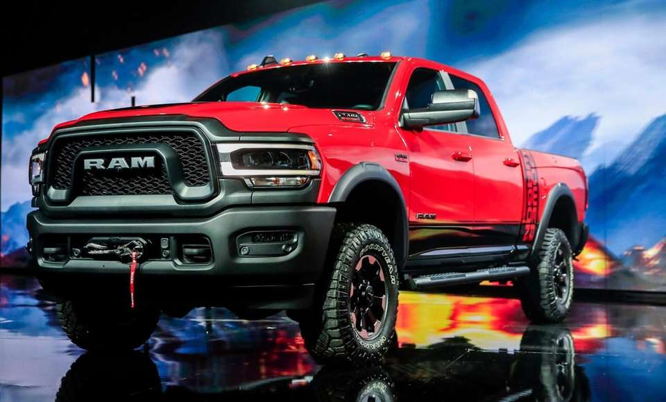 The new RAM Power Wagon pickup truck is