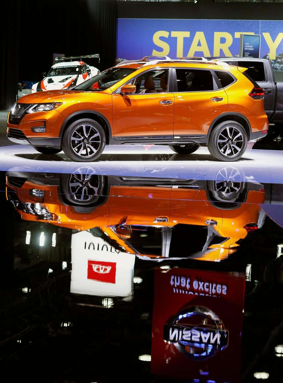 The Nissan exhibit opens for previews at the