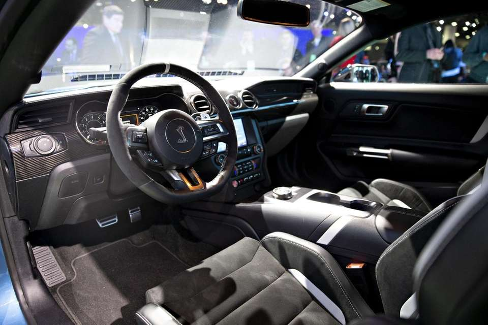 The interior of a Ford Motor Co. Mustang