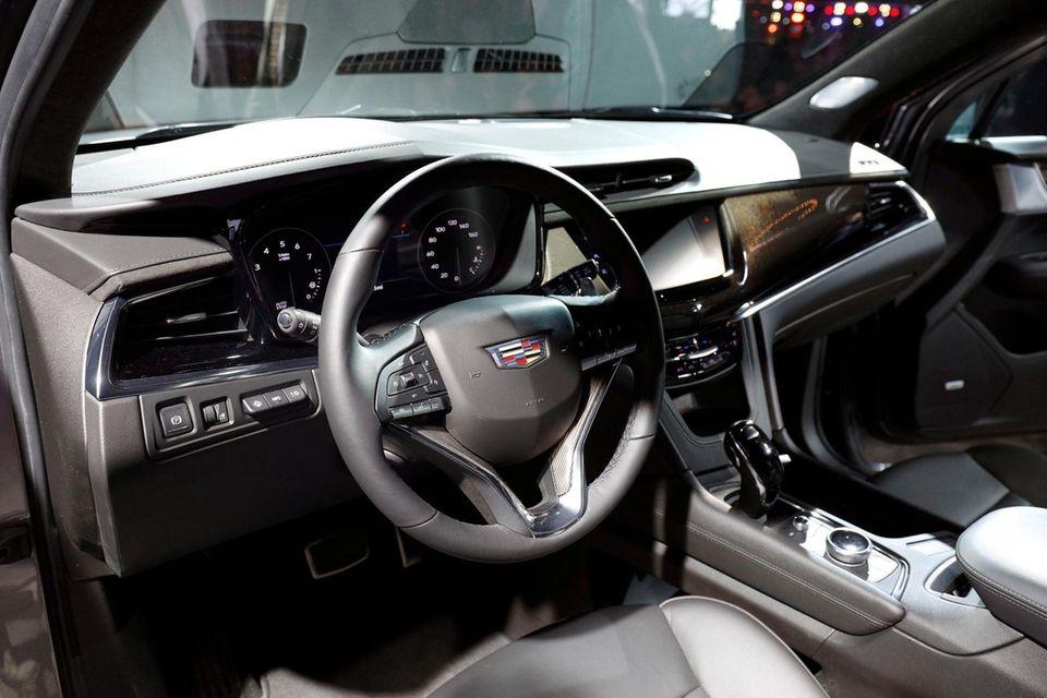 The General Motors Cadillac XT6 three-row crossover SUV