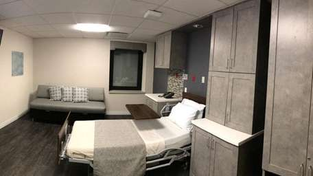 A private patient room at the new hospice