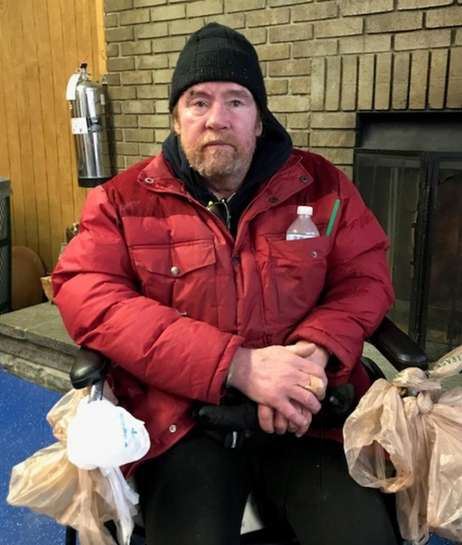 Charles Forrester, 58, a disabled homeless man originally