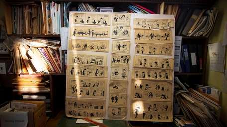 Past cartoons are showcased at Bunny Hoest's studio