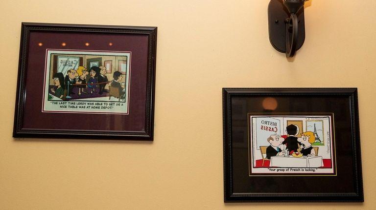 """Lockhorns"" comics are showcased at Bistro Cassis in"