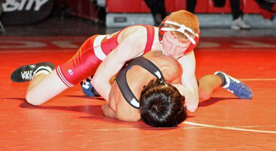 Connetquot's Sean McCabe goes for the win against